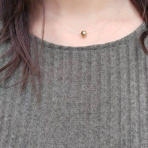 GOLD DAINTY INVISIBLE BOHO CHOKER NECKLACE